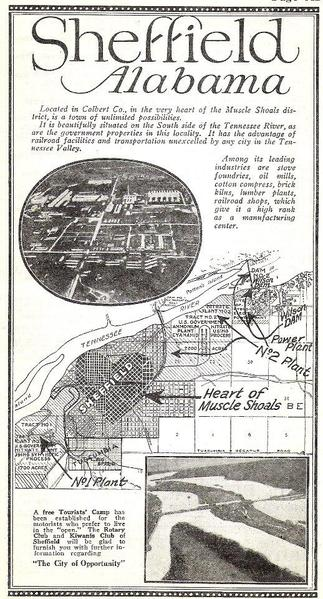1920s Ad - Sheffield - Heart of Muscle Shoals