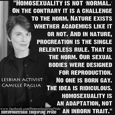 Camille Paglia - Lesbian Activist - No One Is Born Gay