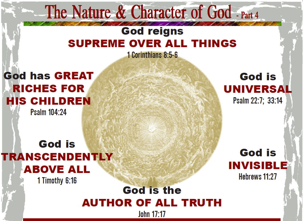 charateristics of god What are the attributes of god how should a believer respond to the characteristics of god what are the communicable and incommunicable attributes of god.