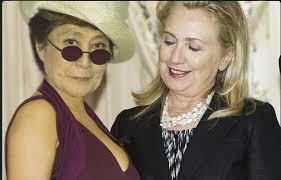 Image result for Hillary clinton and Yoko Ono Relationship