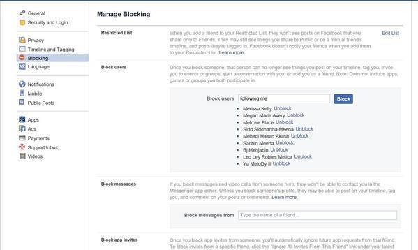 Blocking instructions