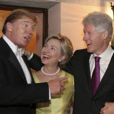 Image result for Hillary and trump friends pic