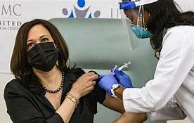Image result for kamala gets vaccine